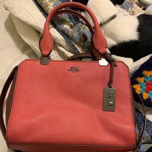 Pink Coach crossbody/satchel
